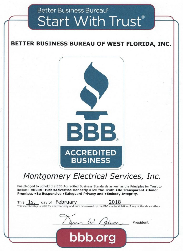 BBB Accredited Business Certification.