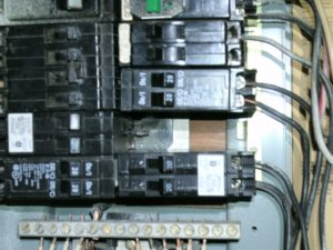 Electrical Panel Burnt Busbar